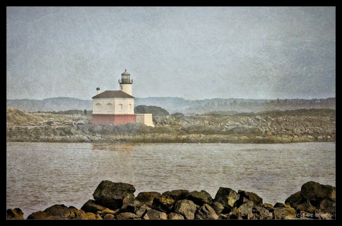 1896 Coquille River Lighthouse in Bandon, Oregon.
