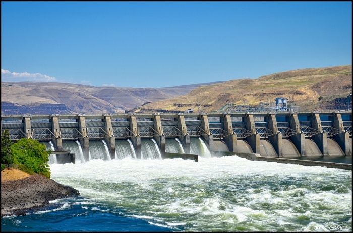 The Spillway of The Dalles Dam built in 1952-1957