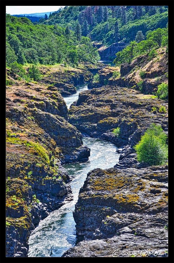 Slot Canyon of the Klickitat River—Lyle, Washington.